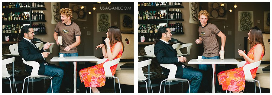 Downtown engagement session