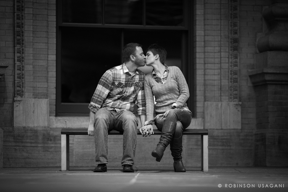 Engagement session in downtown Denver, Colorado
